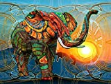 DIY Vorgedruckt Leinwand-Ölgemälde Geschenk für Erwachsene Kinder Malen Nach Zahlen Kits Home Haus Dekor - Elefant 40*50 cm