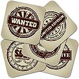 """Bierdeckel-Set """"Stamps"""" bestehend aus 10 x 5 Bierdeckeln 9,3 x 9,3 cm"""