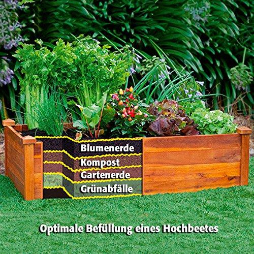 Gärtner Pötschke Hochbeet Klassik, rechteckig, stapelbar, Akazie