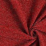 Fabulous Fabrics Jersey Stoff Lurex Glitzer – Karminrot