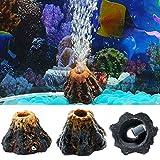 dairyshop Aquarium Volcano Form & Air Bubble Stein Sauerstoff Pumpe Fisch Tank ornament Decor