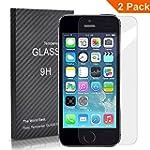 [2 Pack] FEtech iphone SE 5/5S/5C Fil...