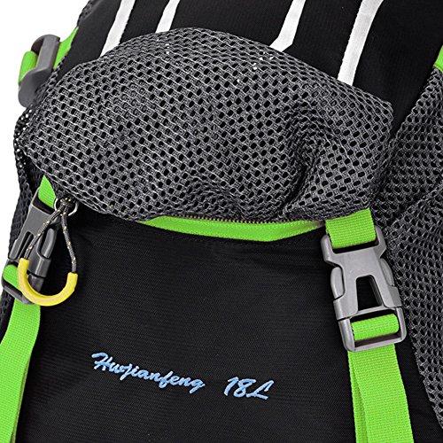 Nuosheng Bike Ride casco da bici zaino borsa uomini e donne Outdoor zaino borsa a tracolla grande capienza zaino da escursionismo., Green Green