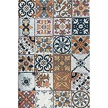Tappeto Azulejos Classic ideale per cucina e bagno - alta qualità con fondo antiscivolo | 60 x 120 cm