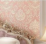 Yosot Europäischen Luxus Damaskus Vliestapeten Stereoskopischen 3D-Schlafzimmer Wohnzimmer Tv Hintergrund Verdickung Tapeten Rosa