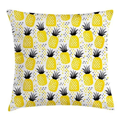 enbezugAnanas-Tropische Akzent-Küstenthema-Strand-Insel-Frucht-Küchen-Grafik Decor Square Pillow Case 45x45 cm ()