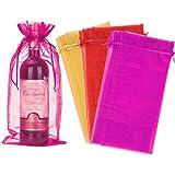 PERFETSELL 30 Pcs Bolsas para Botellas de Vino de Organza Bolsas de Regalo para Botellas de Vino de 75Cl, Bolsas para Regalar