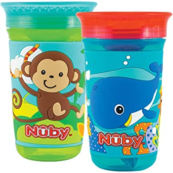 Boy Maxi Pack of 2 Nuby 360 Degree No Spill Cup
