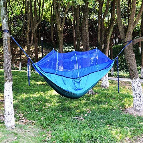 shutian Outdoor Fallschirm Tuch Hängematte mit Moskitonetz Ultraleicht Nylon Doppel Camping Luftzelt, 260 * 140 -