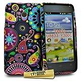 Accessory Master-Cover in Silicone per Huawei Ascend Y300 T8833, con Design Floreale, Multicolore, Motivo: Medusa