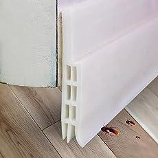 Expower 2 Meter Selbstklebende Tür Türdichtung Dichtungsstreifen Schallschutz Ersatzdichtung Warme und Kälte Blocker wasserdichtes Tür-Siegel-Abisolieren,Silikon Türstopper gegen Insekt