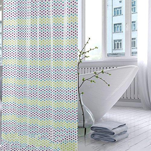 Rideaux de douche Belle douche Rideau PEVA salle de bain imperméable Baignade salle de bain mode confortable Durable ( taille : 200X180CM )