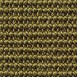 Teppichboden Auslegware | Sisal Naturfaser Schlinge | 400 cm Breite | grün | Meterware, verschiedene Größen | Größe: 3 x 4m