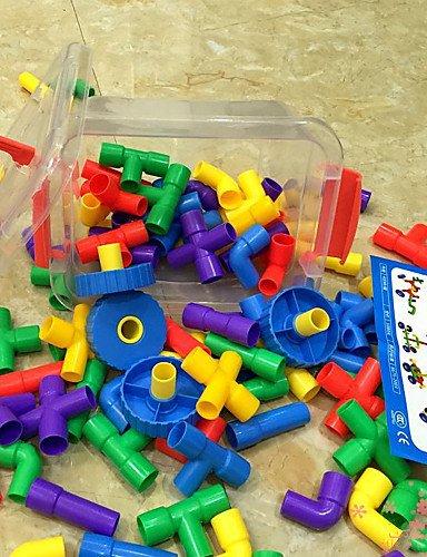 Aimitoysidy Kunststoffrohre große Box-Set Bausteine Baukasten DIY Spielzeug (88pcs) Montage
