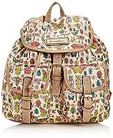 SWANKYSWANS Womens Borella Butterfly & Bugs Classic Backpack BK309 Beige