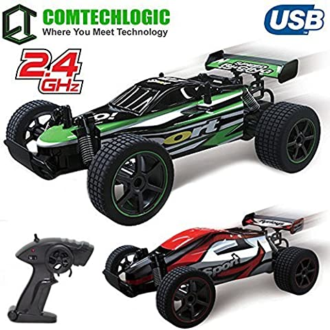 Comtechlogic® CM-2218 2.4Ghz 1:20 USB Electric Game Champion Remote Radio Control RC 20Kmh Fast High Speed Racing Indoor & Outdoor Buggy Truggy Car EP RTR (GREEN)