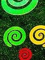 LISA DEKO Gartenstecker Wirbel grün - 12 cm mit 50 cm Metallstab - Sonnenfänger/Suncatcher von LISA DEKO auf Du und dein Garten