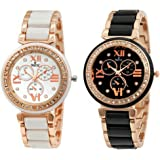 SWISSTYLE Analogue Women's Watch (White Dial White Colored Strap) (Pack of 2)