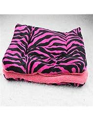 OOFWY Perro de animal doméstico del cojín cómodo engrosada cama de piel de cordero sofá cojín del animal doméstico , random , L