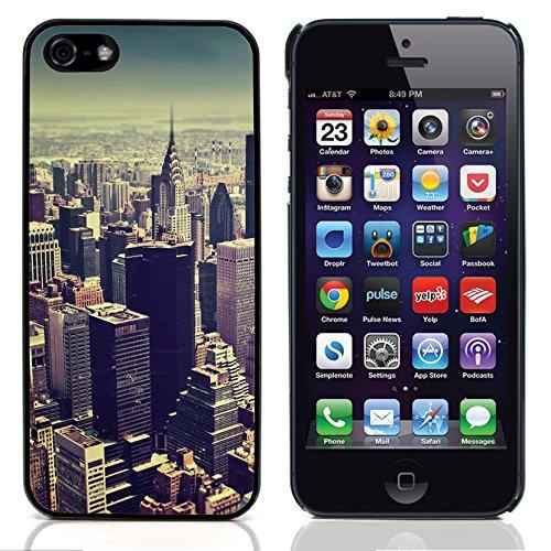 Graphic4You New York City Gelb Taxi Traffic Postkarte Ansichtskarte Design Harte Hülle Case Tasche Schutzhülle für Apple iPhone 5 und 5S Design #4