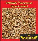SAHAWA® 31071 Bachflohkrebse, Gammarus 1 kg, getrocket, Koifutter, Goldfischfutter, Schildkrötenfutter, Vogel und Reptilienfutter, Wildvogelfutter, Nagerfutter, Hühnerfutter, Reptilienfutter, Leckerli, Koifutter