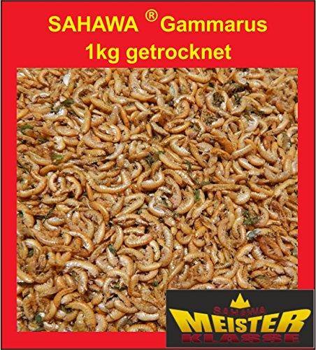 SAHAWA® 31071 Bachflohkrebse, Gammarus 1 kg, getrocket, Koifutter, Goldfischfutter, Schildkrötenfutter, Vogel und Reptilienfutter