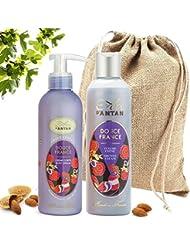 Coffret Duo Eté Femme Douce Bain et Soin (1 Gel Douche 250ml et 1 Lait Corps Hydratant 200ml) - - Parfum Exclusif...