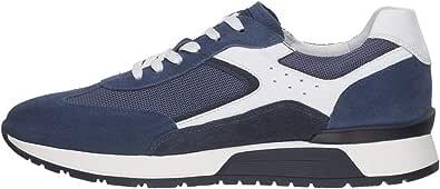 Nero Giardini E001483U Sneakers Uomo in Pelle, Camoscio E Tela