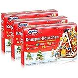 Dr.Oetker-Knusper-Häuschen Lebkuchenhaus Advent Weihnachten 403g ( 3er Pack )