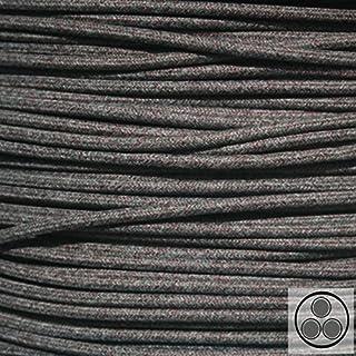 Textilkabel, Baumwolle Schwarz Weis Bordaux 3-adrig, 3x0,75