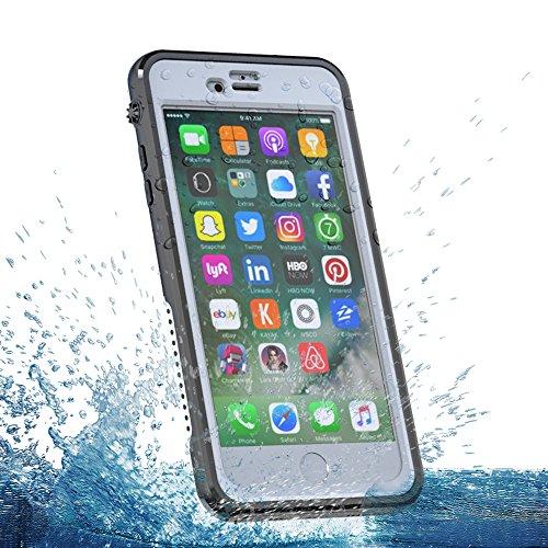 Cover iPhone 6 Plus / iPhone 6s Plus [Impermeabile] Custodia Ultra Slim Full Body Underwater Waterproof Shockproof Dustproof Dirtproof Case Cover Protettore Armor per iPhone 6 6s plus Cellulare (Nero) Bianca