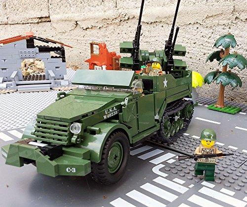 Modbrix 2469 - US ARMY Panzerfahrzeug mit Vierlingsgeschütz & Soldaten aus Lego© thumbnail
