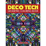 Dover Publications-Deco Tech Geometric Coloring Book