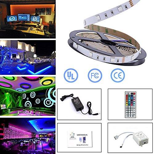 Simfonio Tira LED 12V Luces LED - Tiras Led RGB 5M 150 Leds Non Impermeab Nonle 5050 SMD RGB Tiras de LED Kit Completo