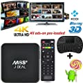 [2016 New Arrivals]SEGURO® M8S Plus M8S+ Amlogic S812 Quad Core KODI TV Box 2G RAM 8G ROM Fully loaded Add-ons and Newest KODI Bluetooth 4.0 Dual Band Wifi 2.4G/5G Gigabit 1000M LAN Enternet REALMEDIA Streaming Media Player (With Wireless Keyboard)