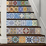 PLYY 3D Treppenhaus Aufkleber DIY Renovierung Fliesen Sticker Selbstklebend Wasserdicht 39,3
