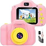 YunLone Macchina Fotografica per Bambini 12MP Selfie Fotocamera Bambine con Scheda 32GB, Custodia, Batteria 1200mAh, Lettore