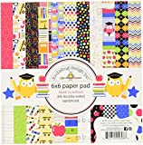 DOODLEBUG SCH4698 School Paper Pad (24 Pack), 6 by 6""