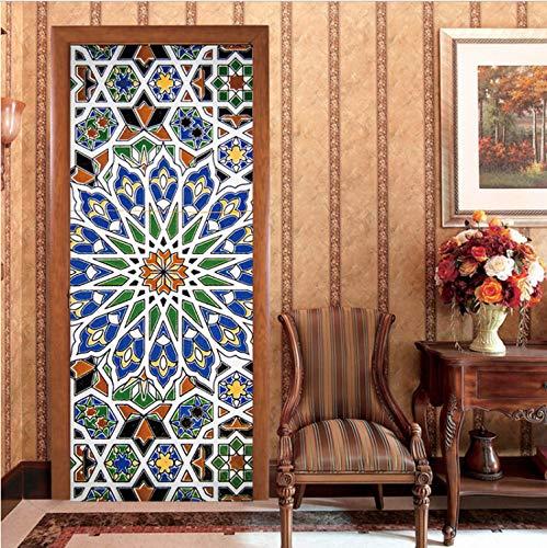 zoomingmingli Tür Aufkleber Keramik Kühlschrank Fliese Tür Aufkleber Dekorative Aufkleber Abnehmbare Wand Tür Aufkleber An Der Wand Abnehmbare Home Aufkleber - Dekorative Keramik-wand-fliesen