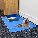 Prime Paws groß Katze Kätzchen Tray Jumbo Katzentoilette Fußmatte Füttern Paw Reinigung Scatter Control Boden Schutz, 100x 65cm
