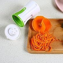 Premium en espiral cortador Hand Held Vegetal Spiralizer, Cortador de verduras verduras Pasta Noodle Spaghetti Veggie eléctrica incluyendo: limpia cepillos y pelador (versión mejorada)