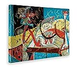 Amarillo Bus impresión sobre Lienzo Canvas, Multicolor, 100x 140cm