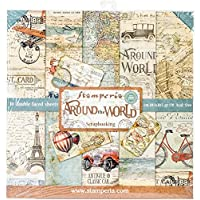 """Stamperia Double-Sided Paper Pad 12""""X12"""" 10/Pkg-Around The World, 10 Designs/2 Each"""