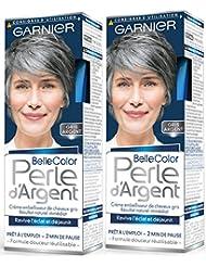 garnier belle color perle dargent crme djaunisseur clat cheveux gris gris - Coloration Cheveux Gris Perle