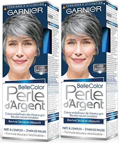 garnier belle color perle dargent crme djaunisseur clat cheveux gris gris - Coloration Cheveux 61
