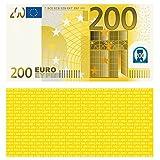 100 Stück Premium 200 Euro Spielgeld Format 113 x 60 mm Geld Banknoten Geldschein Money EUR Größe entspricht 75% des Originals der Eurobanknoten Deutschlands
