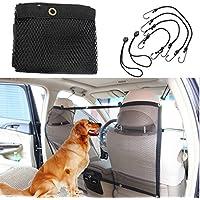 Hundenetz, Focuspet Auto Sicherheitsnetz Trennnetz zwischen Haustier & Autofahrer Schutznetz für sicher und angenehm Reise Autonetz 112 x 62cm