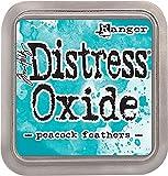 Ranger Pfau Federn Not-Oxid Tinte Pad, Kunststoff, Türkis, 7,5x 7,5x 1,9cm