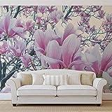 Blumen Magnolien - Forwall - Fototapete - Tapete - Fotomural - Mural Wandbild - (1619WM) - XXL - 312cm x 219cm - VLIES (EasyInstall) - 3 Pieces