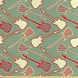 ABAKUHAUS Gitarre Stoff als Meterware, Striped Bicolor